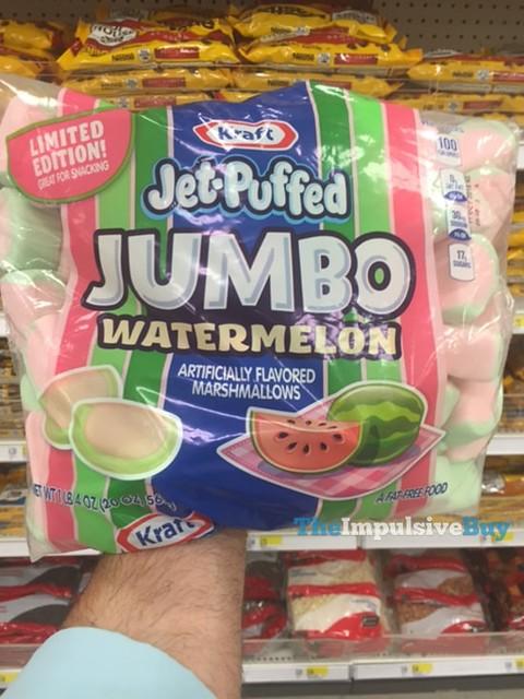 Limited Edition Kraft Jet-Puffed Jumbo Watermelon Marshmallows