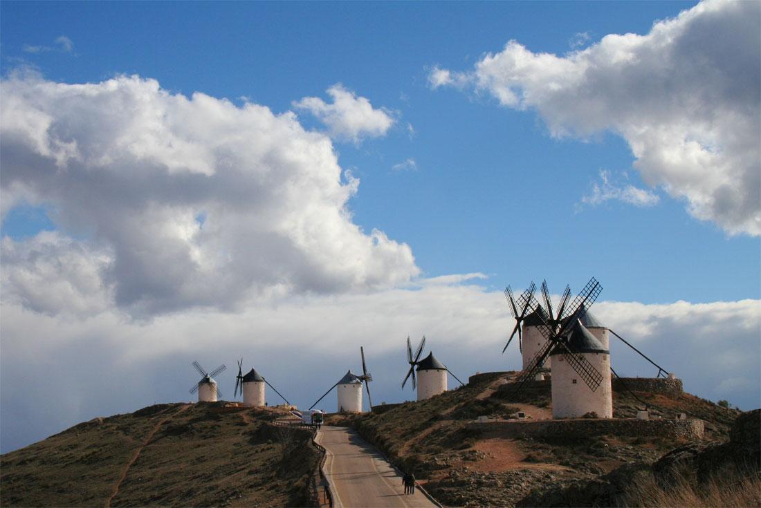 Molinos en Consuegra, Toledo