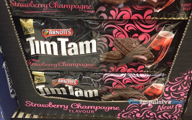 Arnott's Strawberry Champagne Tim Tam