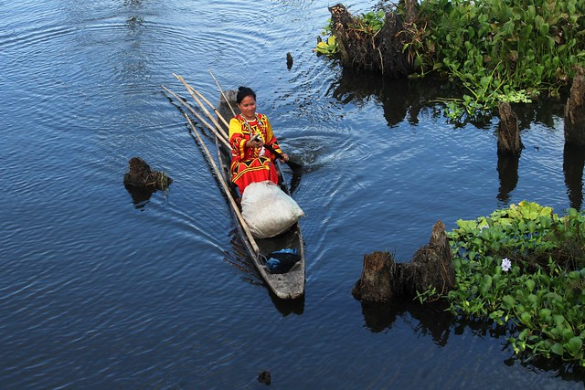 Agusan Manobo Woman in Canoe