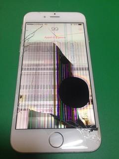 69_iPhone6のフロンパネル液晶割れ