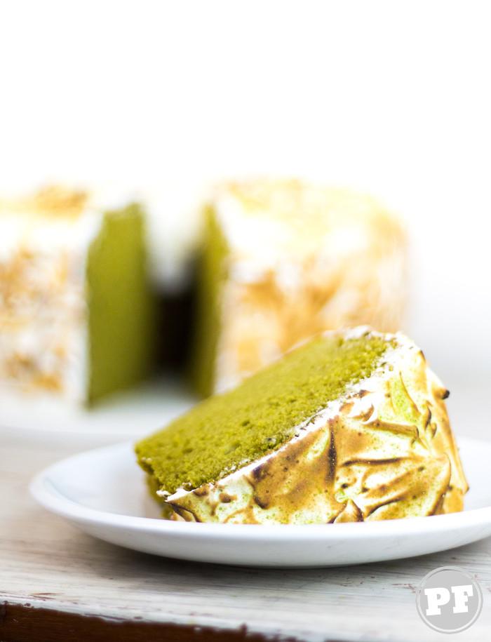 Chiffon Cake de Matcha