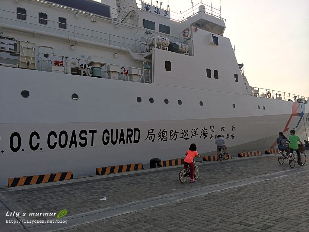 海巡署的巡防艦,好大一台啊~很威風呢!