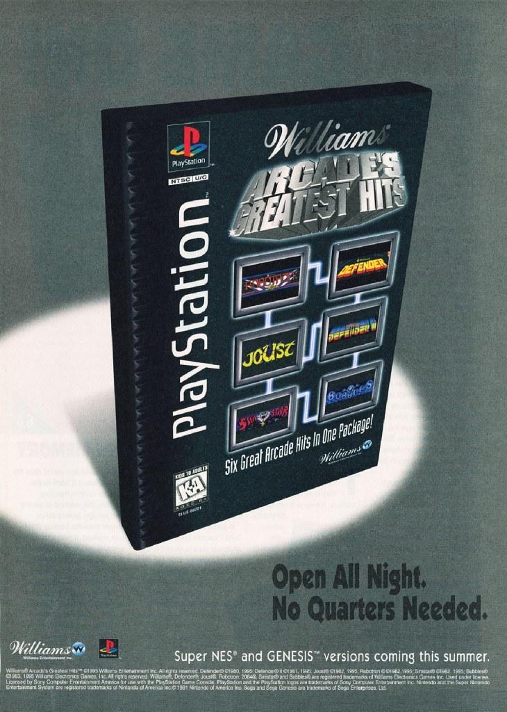 Today in Retro Gaming: Williams Arcade's Greatest Hits - Retro