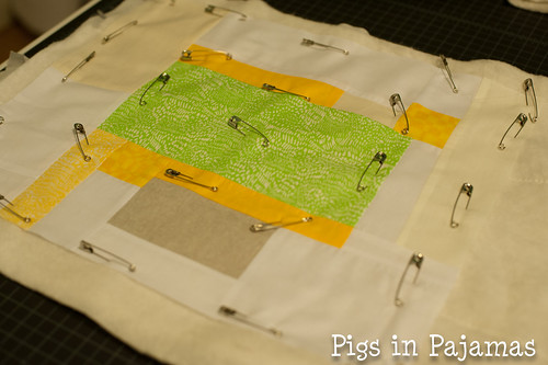 Improv quilting basted
