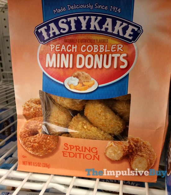 Tastykake Spring Edition Peach Cobbler Mini Donuts