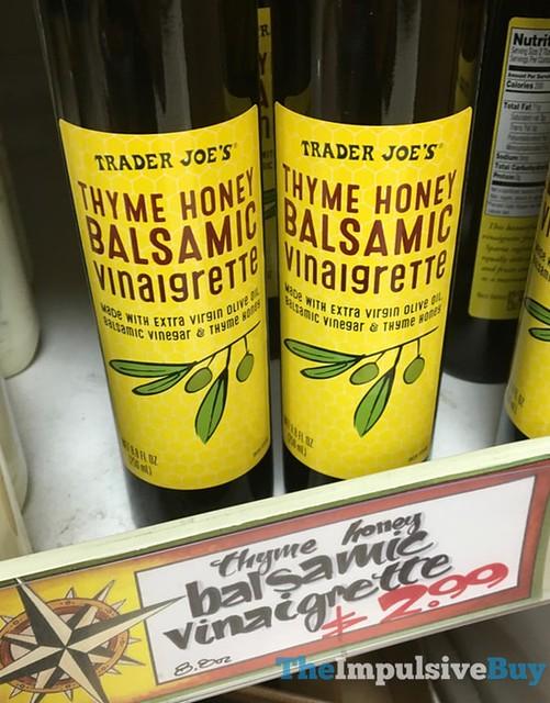 Trader Joe's Thyme Honey Balsamic Vinaigrette