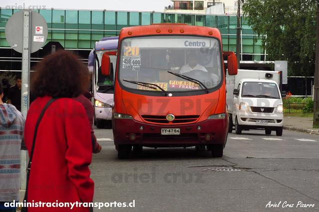 Micro 20 Valdivia - Niebla / Metalpar Pucará Evo / Mercedes Benz (YY4764)