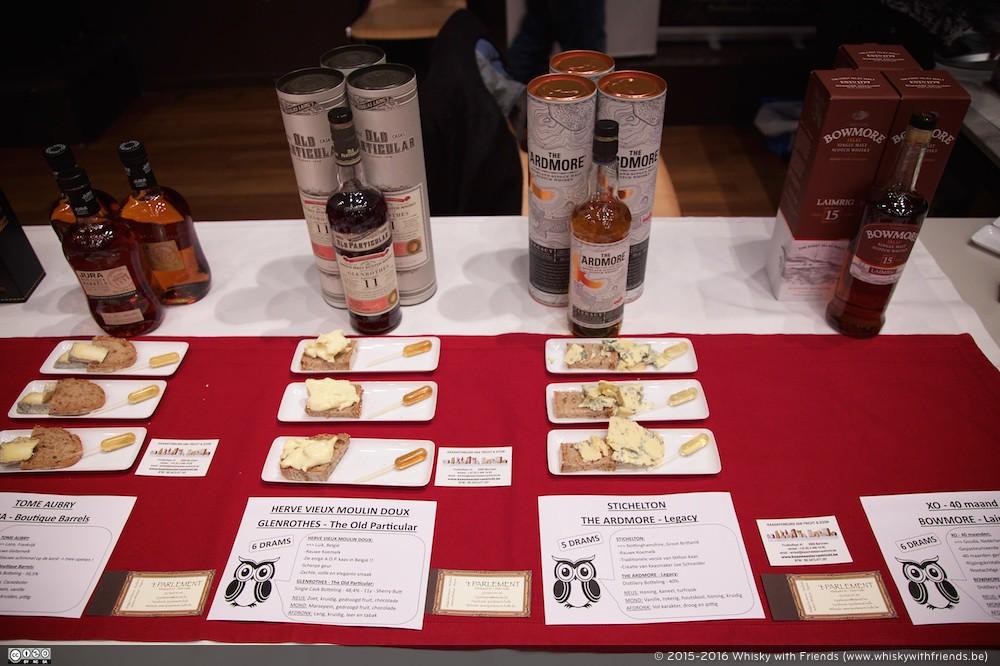 Een whisky en kaas pairing van 't Parlement