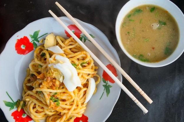 Market noodles. Keng Tung