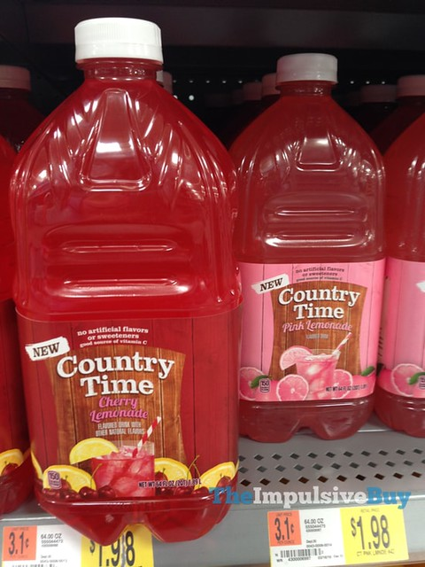 Country Time Cherry Lemonade and Pink Lemonade