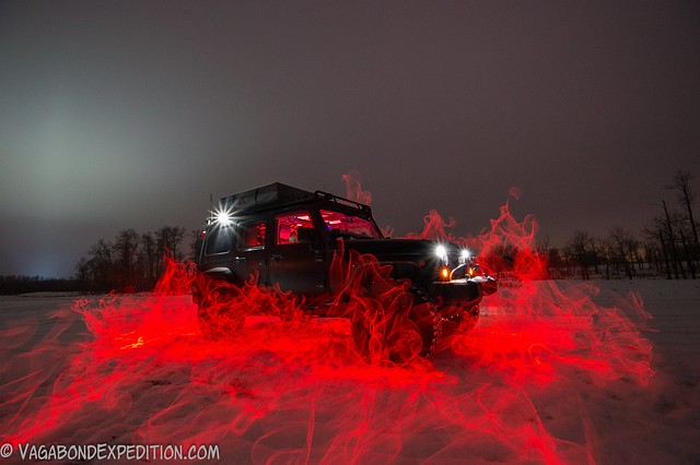 my final jeep in fire attempt with el wire and long exposure light painting techniques