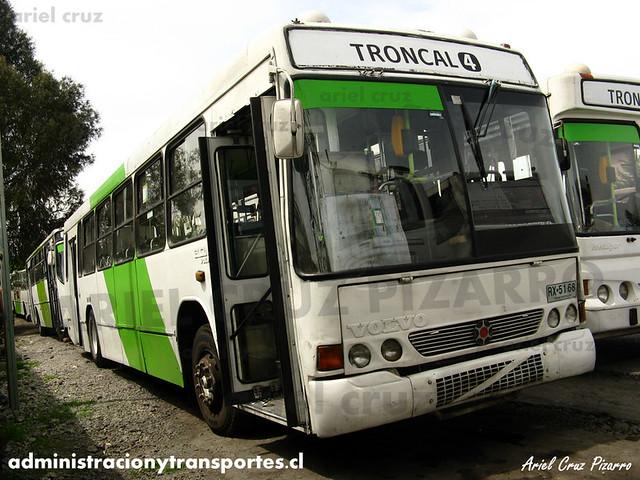 Transantiago (406e) - Terminal La Estrella - Marcopolo Torino GV / Volvo (RX5168)