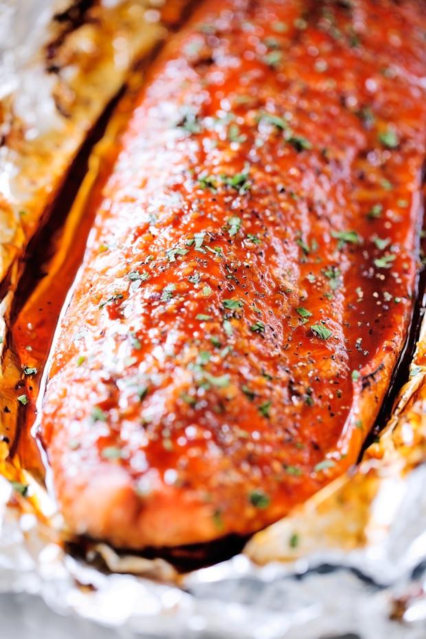 Firecracker Baked Salmon in Foil Recipe | Little Spice Jar