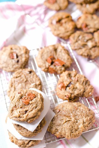 Salted Chocolate Chip Cherry Cookies