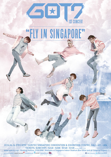 Fly In Singapore VIP Lanyard NEW GOT7 1st Concert Blue