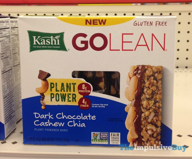 Kashi Go Lean Dark Chocolate Cashew Chia Plant-Powered Bars