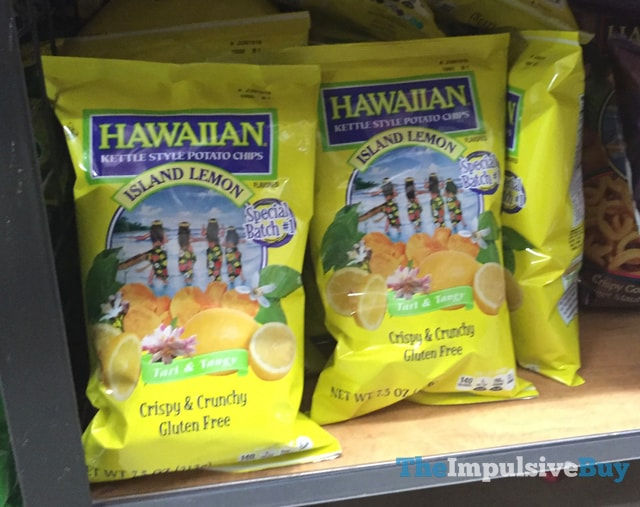 Hawaiian Kettle Style Potato Chips Island Lemon