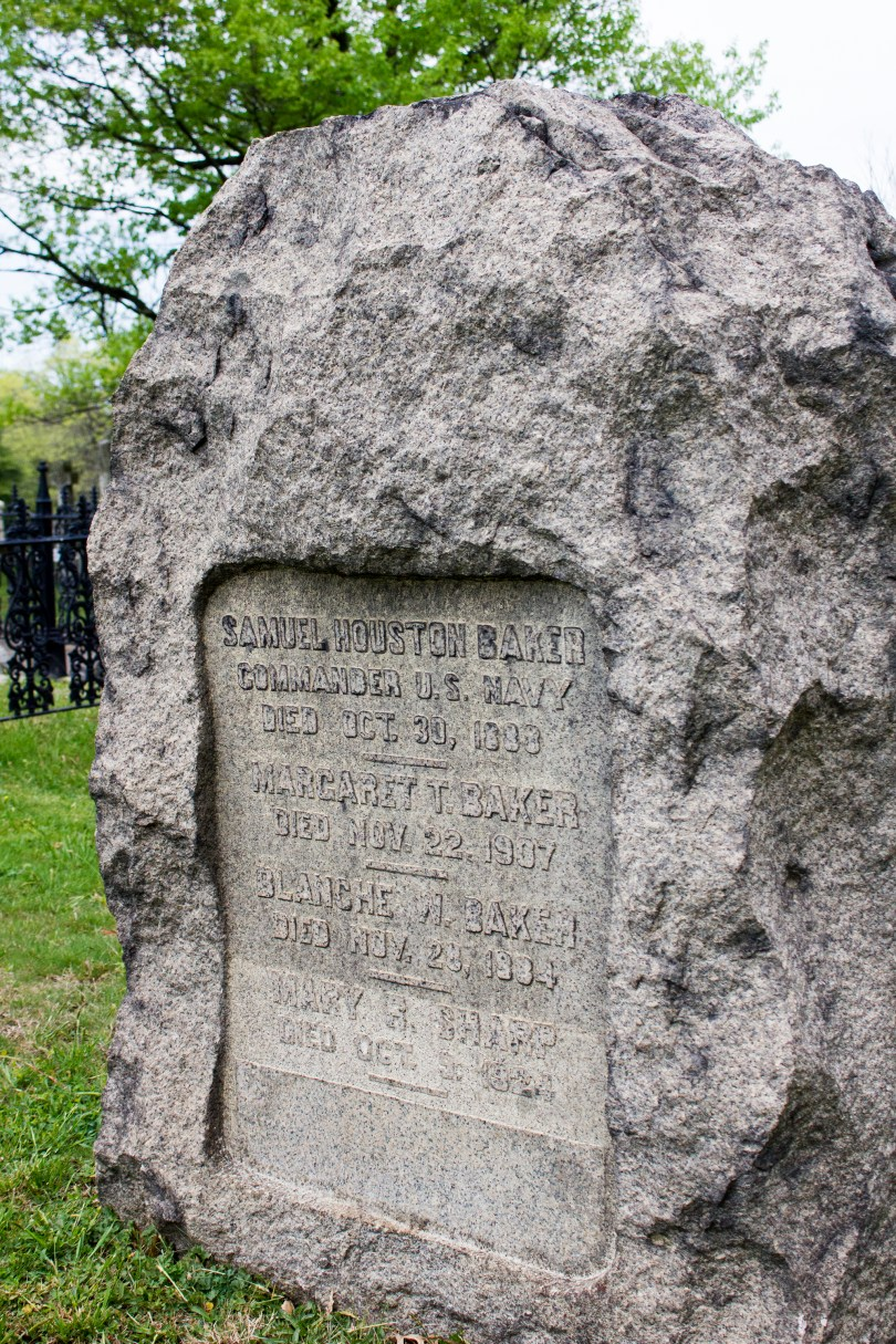 wilmington-brandywine-historical-cemetary-rock-memorial-samuel-houston-baker