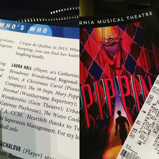 Yay! Here with @daniloo to see @laurahappyhall in #pippinthemusical #sacmusicals