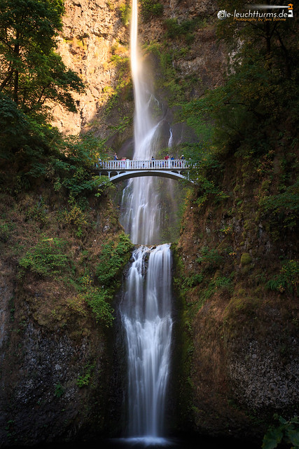 Multnomah Falls with evening glow