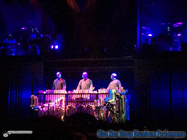 Blue Man Drumbone Performance