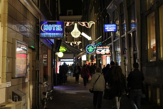 hotel continental amsterdam night
