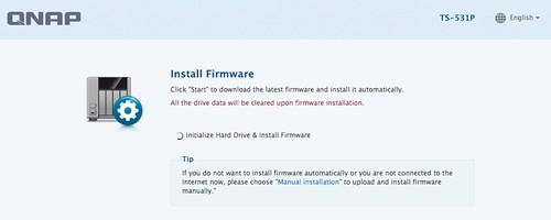 ในกรณีที่ Firmware ไม่ใช่รุ่นล่า เมื่อเริ่มใช้งานครั้งแรกจะให้อัพเดตก่อนเลย
