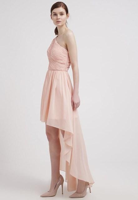 abito e decolleté rosa quarzo