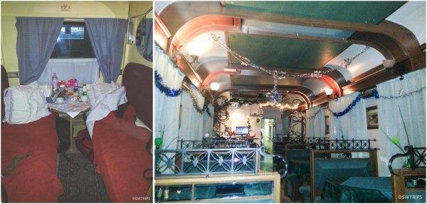 Inside a Russian Train
