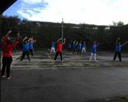 Senam Bersama di Lap.Tenis KPU Tulungagung