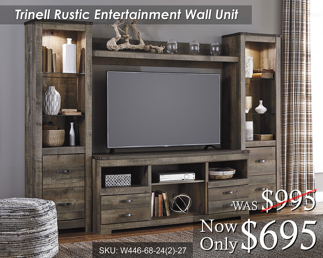 Trinell Entertainment Wall Unit