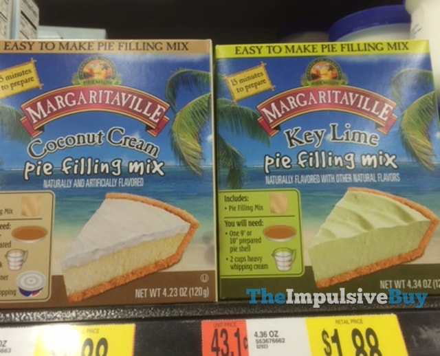 Margaritaville Coconut Cream and Key Lime Pie Filling Mixes