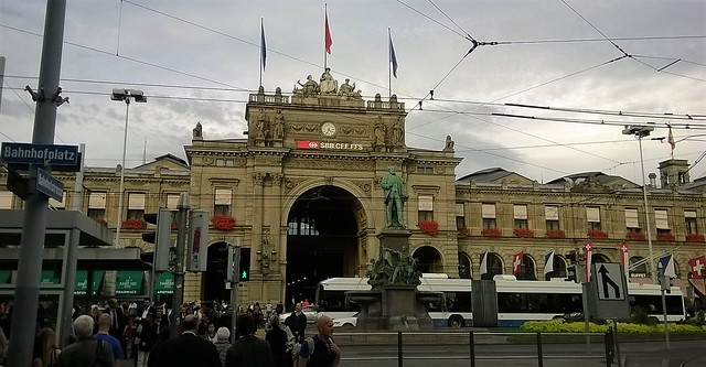 outside zurich train station