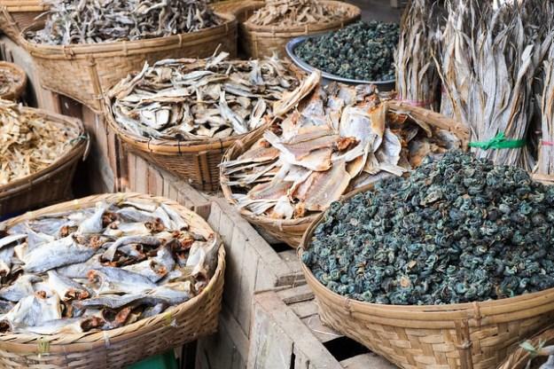 Dried fish. Mrauk U