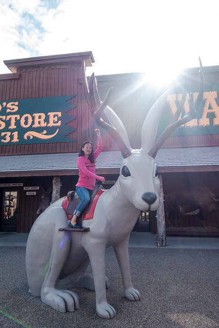 Heather and the infamous jackalope.
