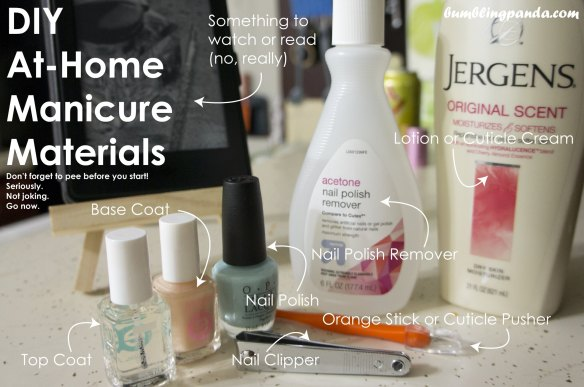 At Home Manicure Materials