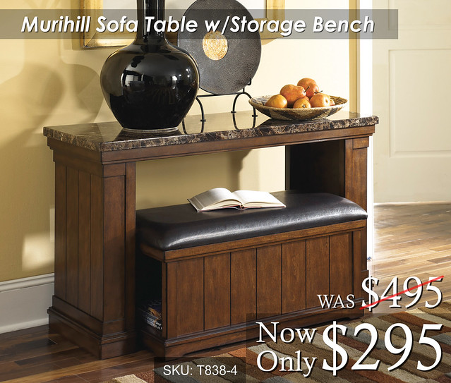 Murihill Sofa Table with STorage