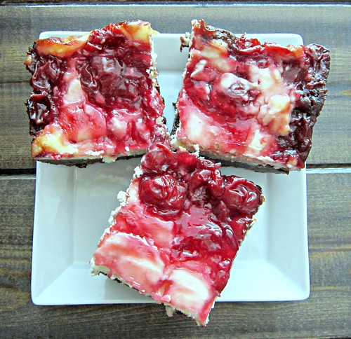 Finished Cherry Cheesecake Brownies