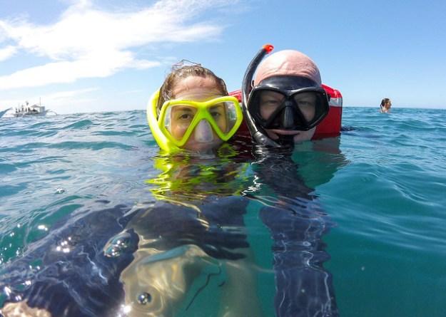 Whale shark selfie. Donsol