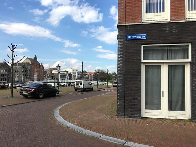 Bataviakade street name in Delfshaven, Rotterdam