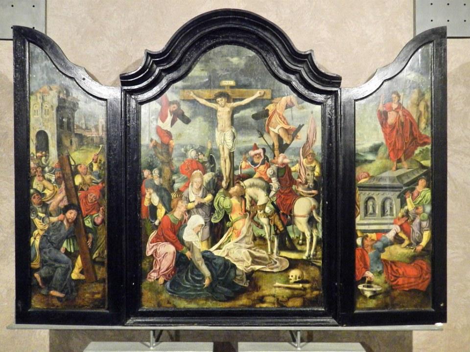 Pintura flamenca Triptico de la Pasion Casa de los Caballos Museo Bellas Artes Caceres 18