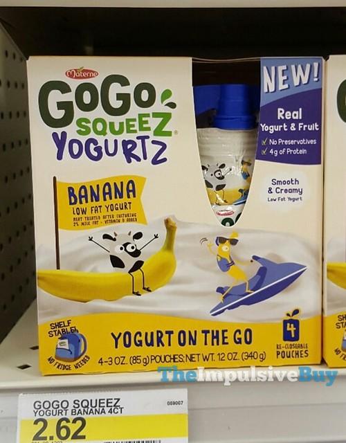 Materne Banana GoGo Squeez Yogurtz