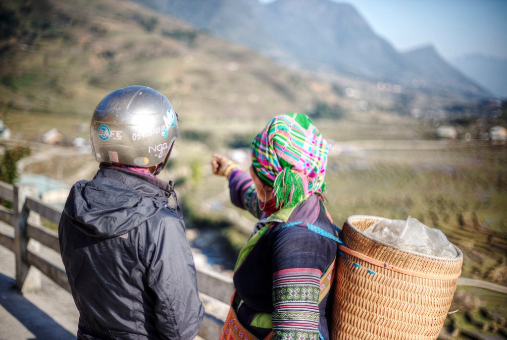 Meeting the locals in Bac Ha, Vietnam.