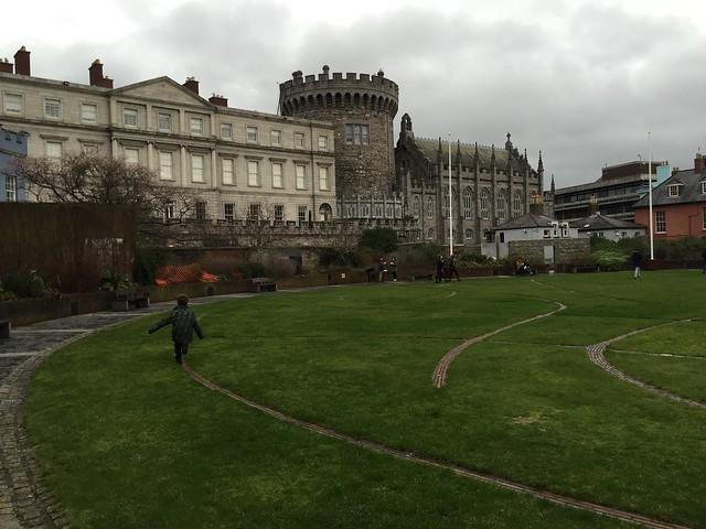 Running outside Dublin castle