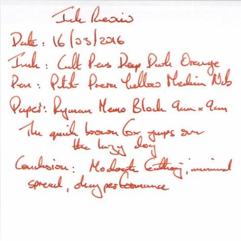 Cult Pens Deep Dark Orange - Ryman Memo