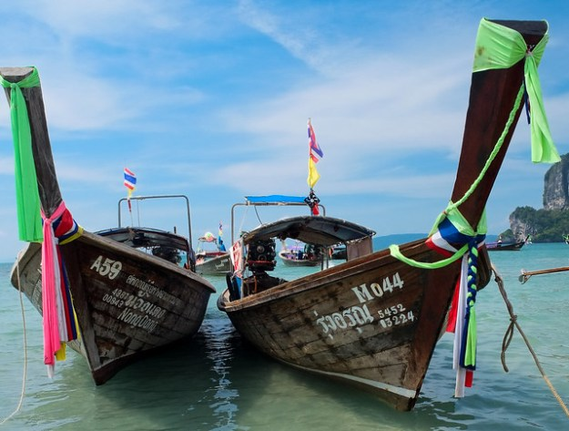 Longtail boats. Railay