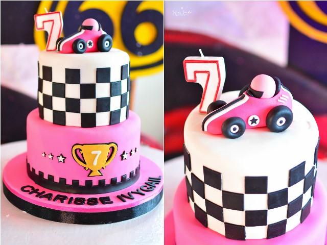girly race car cake