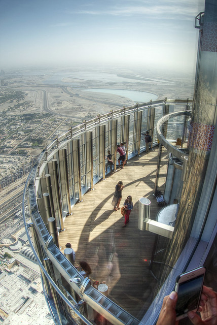 Looking out over the observation deck.