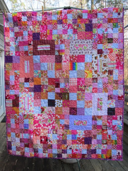 Scrappy Bright Donation Quilt